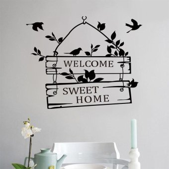 Harga Welcome Sweet Home Removable Wall Sticker Art Vinyl Decal Decor Mural - intl