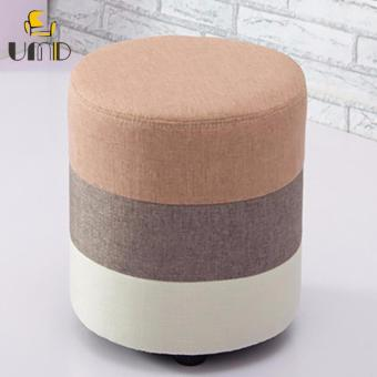 UMD Designer Fabric Stool Ottoman (Light Brown)