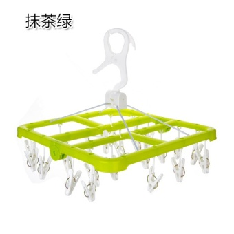 Can be folding multi-clip hanger home Underwear Socks hanging clothes rack baby clothes hanging drying racks