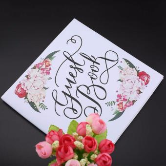 Harga Personalized Guest Book Calligraphy Alternative Guestbook Wedding Journal - intl