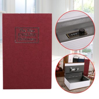 Security Lock Dictionary Safe Secret Book Hidden Locker Box (Black) - intl