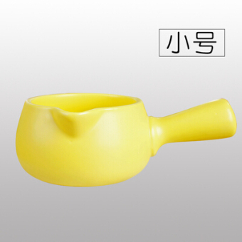 Harga Baby food supplement pot small milk pot enamel single handle ceramic nonstick mini baby milk pot hot milk pot boiling pot