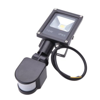 Harga 10W LED Flood Light 85~265V PIR Motion Sensor Induction Sense Lamp Water-resistant Environmental-friendly for Pathway Outdoor Stair Step Garden Yard