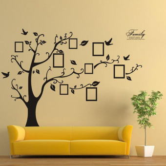 Harga Family Tree Bird Wall Sticker Photo Picture Frame Removable Decal Home Art Decor