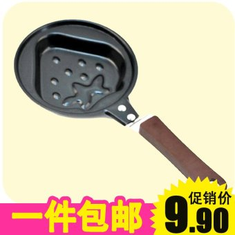 Harga H strawberry omelette Pan egg pot pancakes pot flat pot does not rust steel omelette Pan 0.1