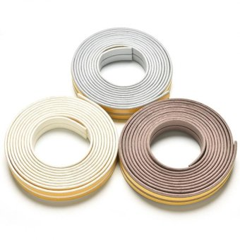 Harga Jetting Buy 5M E/D/I-type Foam Draught Self Adhesive Window Door Excluder Rubber Seal Strip (White I)