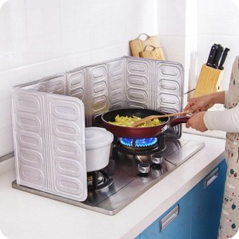 Harga Kitchen gas stove insulation spacer block oil aluminum foil insulation board cooking oil backsplash
