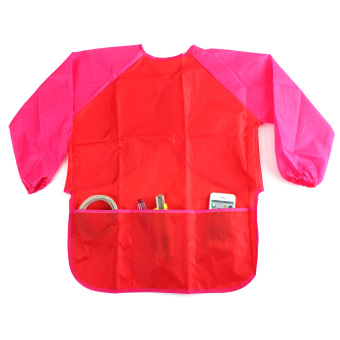 Harga Child kids Painting Smock Apron (red)