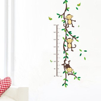 Harga Removable PVC Wall Posters Sticker Monkey Children Height Measure Decor