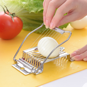 Harga Japanese stainless steel egg slicers Multi-Function Points egg is fancy egg open egg is egg sliced egg cut