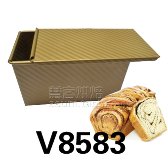 Harga Square gold does not stick corrugated with lid toast box