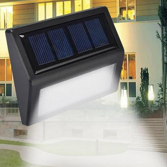 Harga 6LED Solar Power Light Sensor Wall Light Garden Lamp Likesome - intl