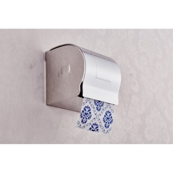 Stainless Steel Toilet Roll Holder Wall Mounted Paper Box(Silver)