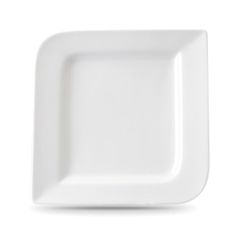 "Harga Moderne 10"" Fantastic Square Dinner Plate, 6pcs (White)"