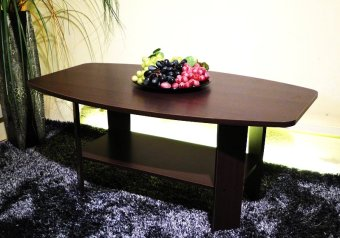 Harga Furniture Living Wooden Coffee Table (Walnut)