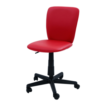 Harga Simple Modern Office Chair (PVC-Red) (Free Delivery)