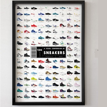 Harga Comtemporary Wall Decorative Poster-Sneaker