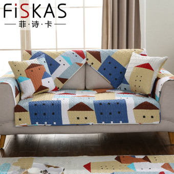 Philippine poetry card combination living room sofa cushion four seasons general cushion antiskid cute cartoon cotton cloth cover towel