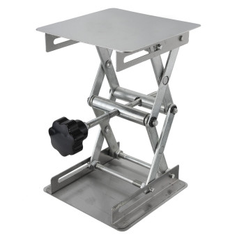 "Harga 4"" x 4"" 100mm Stainless Steel Lab Stand Lifting Platform Laboratory Tool (EXPORT)"