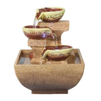 Harga European Water Fountain Creative Office Desktop Zhaocai Home Furnishing Decoration - intl