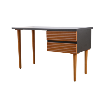 Harga Two Tone Design Desk-Black (Free Delivery)