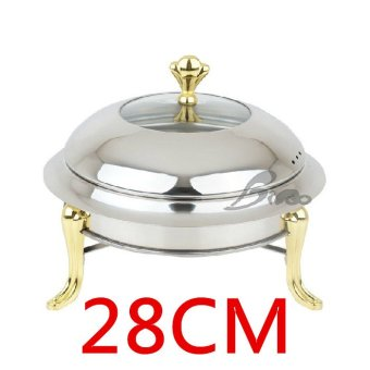 Harga stainless steel chafing dish buffet furnace buffet furnace small pot furnace buffy fish ming furnace glass alcohol pot