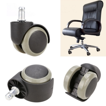 Harga New 5PCS Office Chair Soft Rubber Caster Wheel Swivel Wood Floor Funiture Replacement - intl