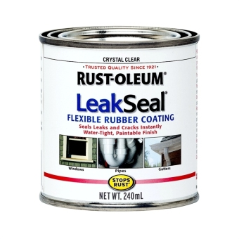 Harga Rust-Oleum LeakSeal Flexible Rubber Coating Clear 240ml