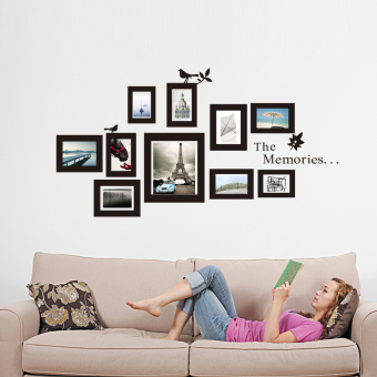 Harga 10x Picture Photo Frame Set Wall Frames Sticker Vinyl Decal Home Gift