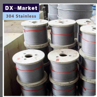 Harga 2mm wire rope, 50meter/lot , 7*7 , 304 stainless steel wire rope Anti rust line - intl