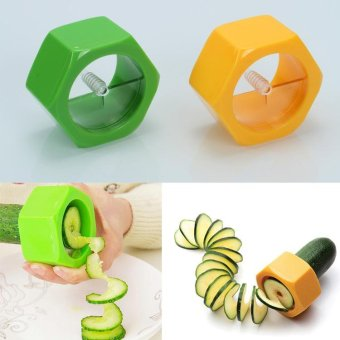 Cucumber Spiral Slicer Slicer Kitchen Tool Potato Carrot Cutter Peeler - intl