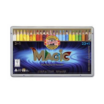 Harga KOH-I-NOOR MAGIC Jumbo Triangular Coloured Pencil (23+1)