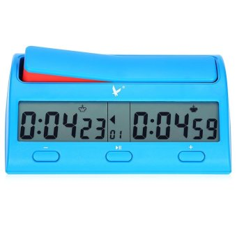 Harga LEAP PQ9912 Compact Professional Digital Chess Clock Count Down Timer (Blue) - intl