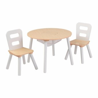 Harga KidKraft Round Table and Chairs Set (White and Natural)