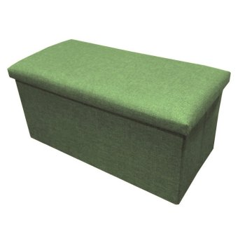 C01 Canvas Foldable Storage Ottoman (Large) - Green