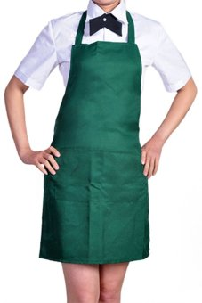 Harga Bluelans Kitchen Cooking Chefs Apron (Blackish Green)