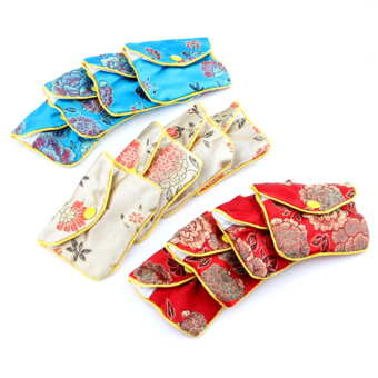 Harga Jewellery Jewelry Silk Purse Pouch Gift Bag Bags (12pcs) (EXPORT)