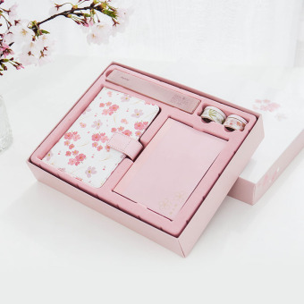 Harga Small fresh beautiful notebook stationery Japanese fantasy cherry series loose-leaf hand books gift set book