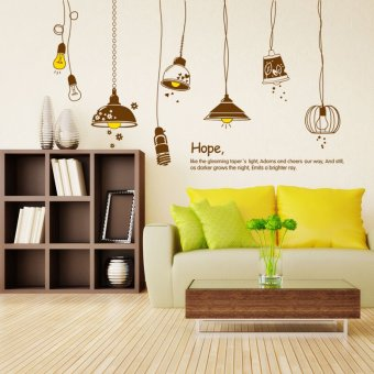 Harga Entrance hallway living room sofa bedroom tv backdrop stickers wallpaper wall stickers creative lamps of hope
