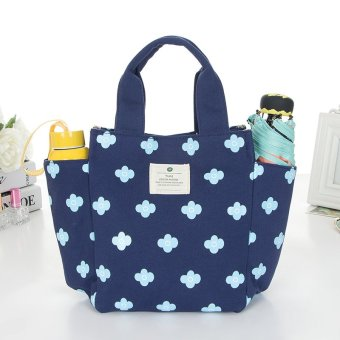 Harga Korean small fresh korean cute canvas lunch bag handbag korean version of the fresh meal bag lunch box lunch bag