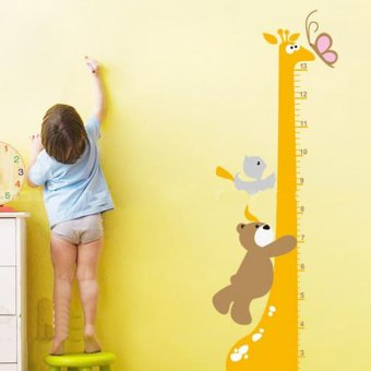 Harga Okdeals Removable Cartoon Giraffe Children Kid Growth Height Chart Wall Sticker Yellow