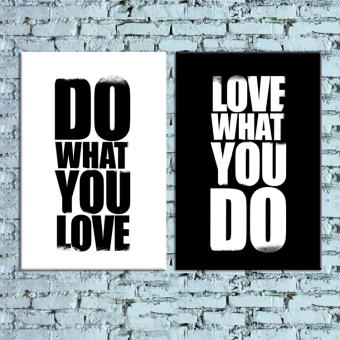 "Harga 2Pcs Canvas Print Painting Wall Art Picture ""Do What You Love,Love What You Do"""