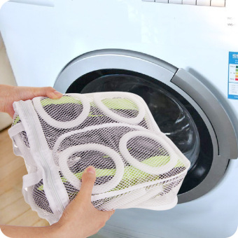 Harga Washing machine dedicated WASH shoe LR shoes care wash bag can be hanging dry shoes drying shoe wash shoes storage bag Protection Bag