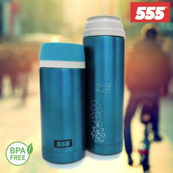Harga 555 Stainless Steel Vacuum Flask 500ml (LOVE FLIES/Blue)
