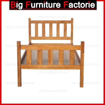 Harga BFF24-WB Solid Wooden Bed (Natural) – Single
