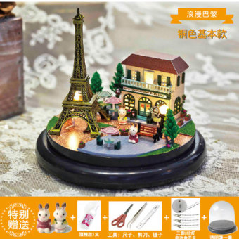 Harga Girl and girls friends creative birthday gift ferris wheel MBOX music box DIY wooden momicafe