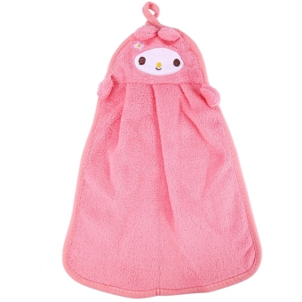 Harga Cartoon Style Hang-type Absorbent Hand Dry Towel(Pink) --TC