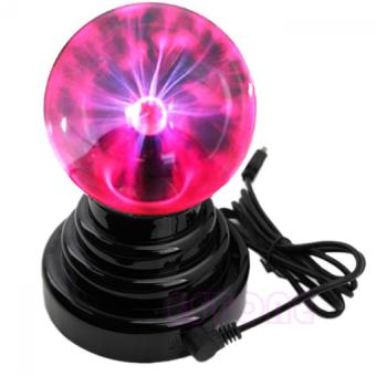 Harga USB Magic Touch Sensitive Plasma Ball Black Base Glass Sound Activated Sphere Lightning Party Table Bedside Lamps Light Lighting for Birthday Gift
