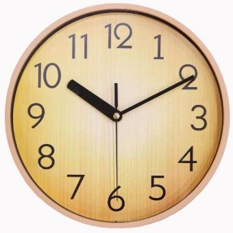 Harga JustNile Retro Country-Style Round Silent Wall Clock - 10-inch Pale Wood (Brown)