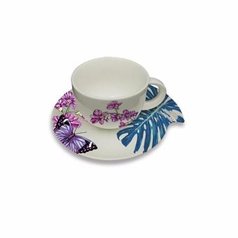 Harga Chef Eric Teo 220ml Orchid Coffee Cup & Saucer Set